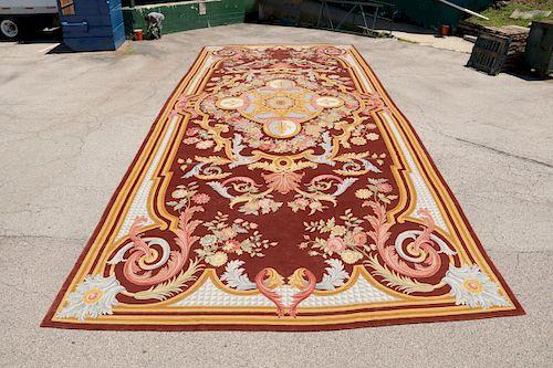 Palace-Size Savonnerie Carpet: 16'10'' x 41'7'