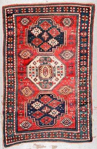 Antique Kazak Rug: 4'5'' x 6'9''