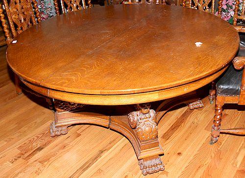 Oak Dining Table Probably R J Horner
