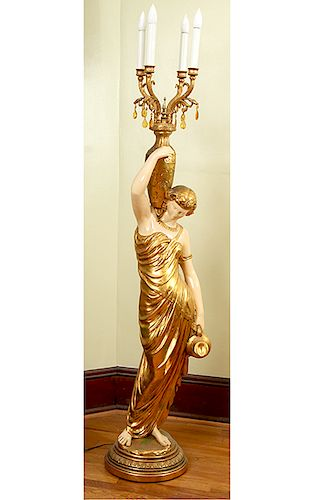 Classical Torchier Lamp