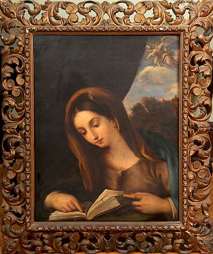 Virgin Mary Old Masters Oil Painting