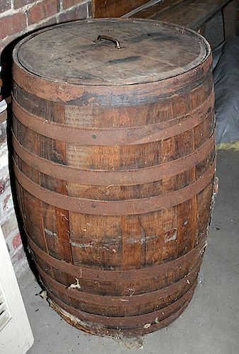 Early Jack Daniel's Barrel with Lid