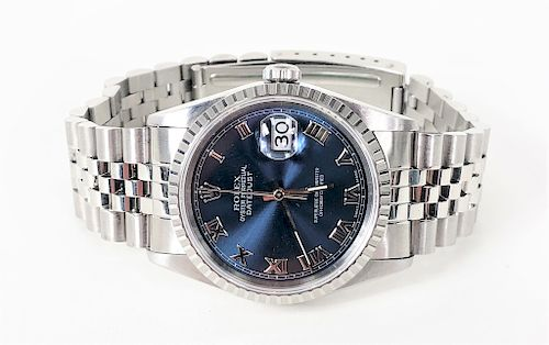Men's Stainless Rolex Perpetual Datejust Watch