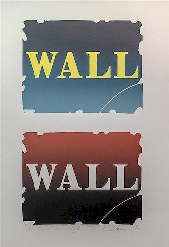 * Robert Indiana, (American, b. 1928), Wall: Two Stones - Three, 1990