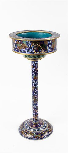 * A Chinese Cloisonníš Stand Height 25 inches.