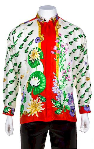 60b51724 A Gianni Versace Silk Print Shirt, Size 48. Lot 237. Prev Lot · Next Lot ·  item Image