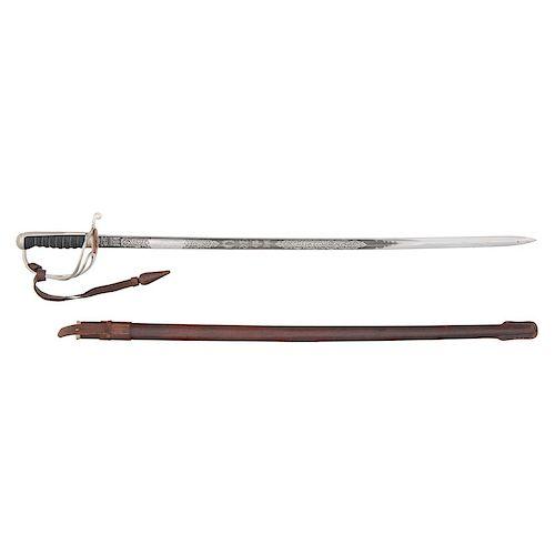 British Pattern 1822 Artillery Officer's Sword - WWII Era by