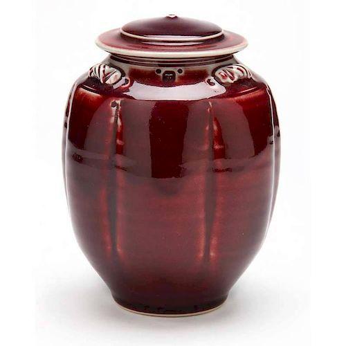 NC Art Pottery, Tom Turner, Covered Jar