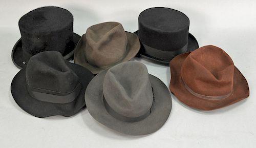 Group of six mens hats 668a2b1776f