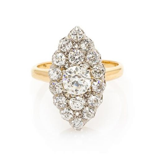 08a3920ba An Edwardian Platinum Topped Yellow Gold and Diamond Ring, 5.05 dwts ...