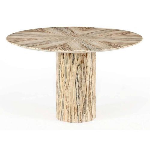 Modernist Banded Onyx Stone Table
