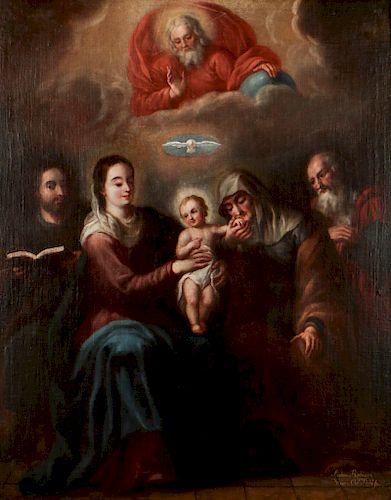 Nicolas Rodriguez Juarez (1667-1734) La Sagrada Familia (The Holy Family)