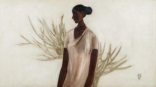 B. Prabha (1933-2001) Painting of a Girl