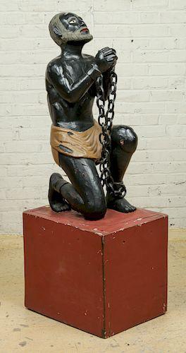Important Figural Slave Trade Abolition Statue, 19th C