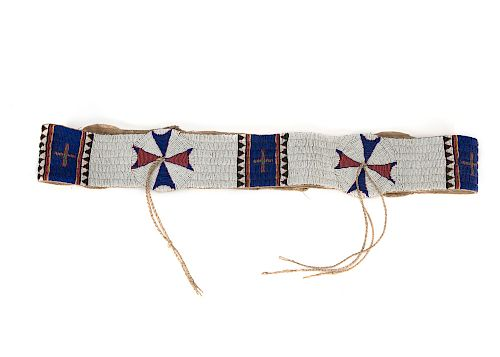 Arapahoe , Finely Beaded Blanket Strip
