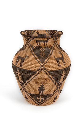 Apache , Olla Shaped Basket