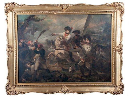 Henry Singleton Oil on Canvas Battle Scene