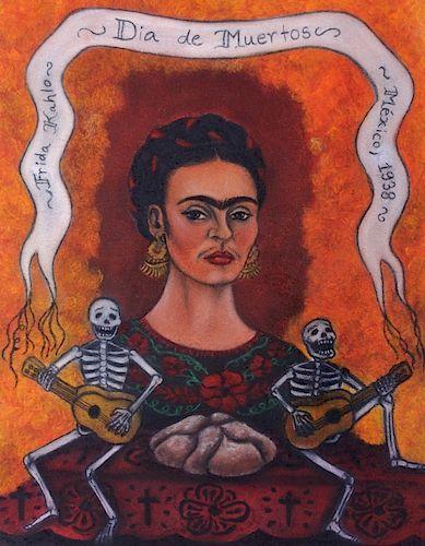 "Frida Kahlo ""Dia de Muertos"" 1938 Drawing"