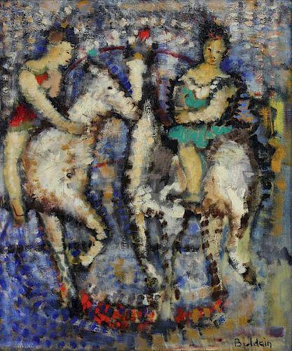 BULDAIN. Oil on Canvas. Circus Scene.