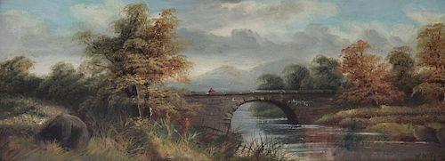 WIDGERY, William. Oil on Board. Country Landscape.