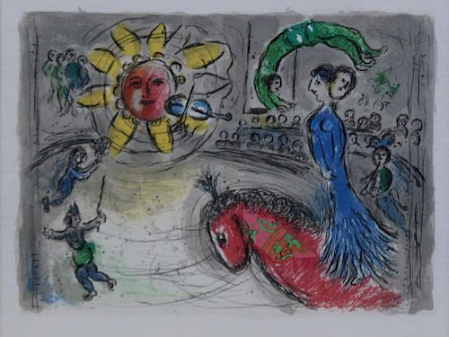 CHAGALL, Marc (After). Lithograph in Colors.