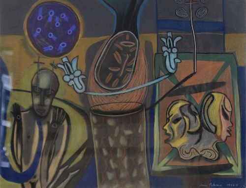 POLANCO, J. Pastel. Abstraction with Mask.