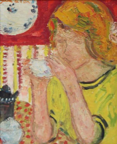 GIROD DE L'AIN, Helene. Oil on Canvas. Biveuse