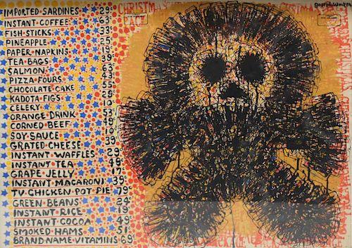 WINTER, Joseph. Mixed Media on Paper. Pop Art