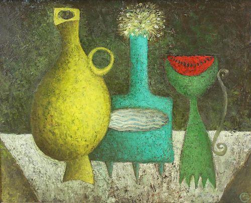 GUBIN, Mikhail. Oil On Canvas. Still Life. 1994.