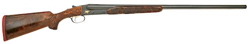 Custom Winchester Model 21 Double Ejectorgun Engraved by Pauline Muerrle