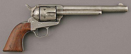 Colt Single Action Army Frontier Six Shooter Etched Panel Revolver with Montana ID