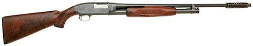 Custom Winchester Model 12 Skeet Slide Action Shotgun Engraved by Pauline Muerrle