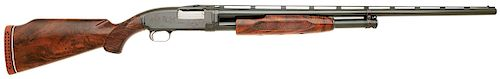 Custom Winchester Model 1912 Pigeon Grade Trap Slide Action Shotgun Engraved by Pauline Muerrle