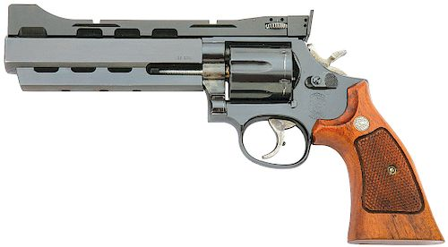 Custom Smith and Wesson Model 586 Distinguished Combat Magnum P.P.C. Revolver by Power Custom