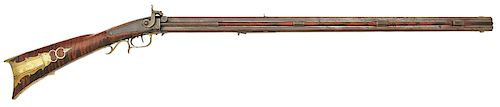 Pennsylvania Percussion Swivel Breech Double Rifle by Charles Roth