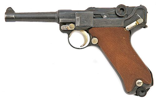 Custom Engraved German P.08 Luger BYF-Coded Pistol by Mauser