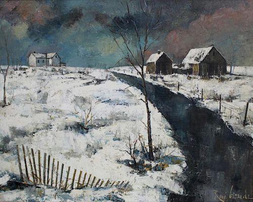 GIRAUD, Rene. Oil on Canvas. Landscape.