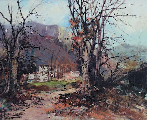 SERENI, LIliana. Oil on Canvas. Landscape.
