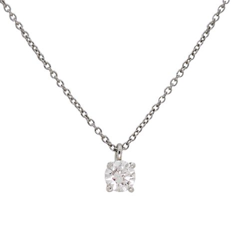 Tiffany and Co 950 Platinum Diamond by the Yard Pendant GIA Certificate