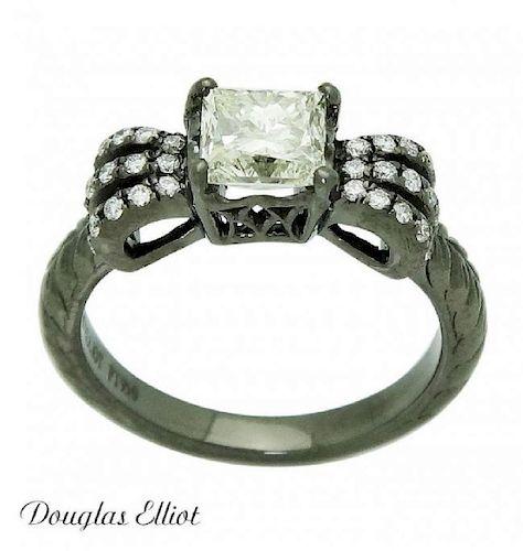 Douglas Elliot PT 1.18 TCW Yellowish Brown Ring