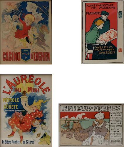 LOT OF Four Original Vintage Lithographic Posters.