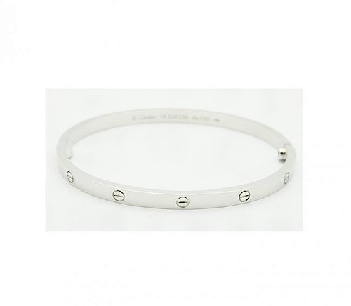 6c851b39438b7 Cartier 18K White Gold LOVE Small Bracelet. Lot 119. Prev Lot · Next Lot ·  item Image