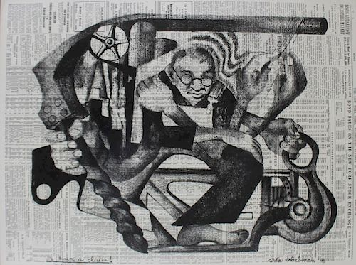 ABELMAN, Ida. Lithograph on Newsprint.