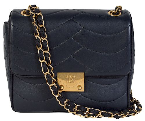 ff1ba8708194b7 2016 CHANEL Cruise Collection Wave Pattern Bag by Abington Auction ...