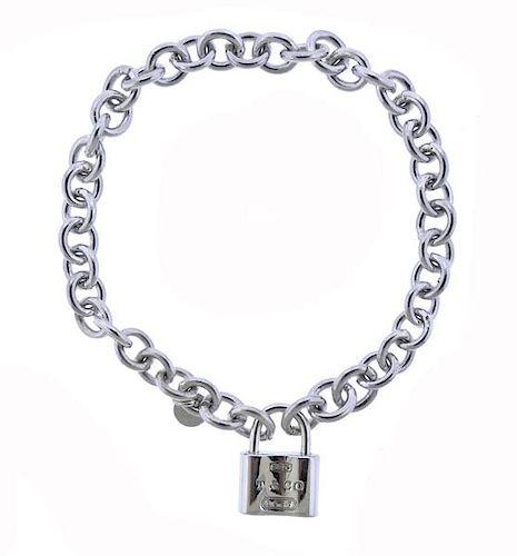 1d0caa8a0 Tiffany & Co 1837 Sterling Silver Padlock Charm Bracelet by ...