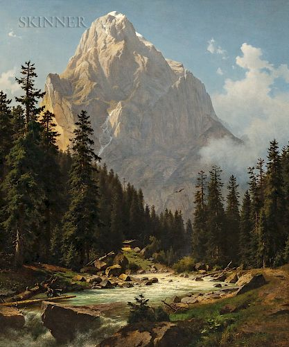 Joseph Jansen (German, 1829-1905)  Alpine View