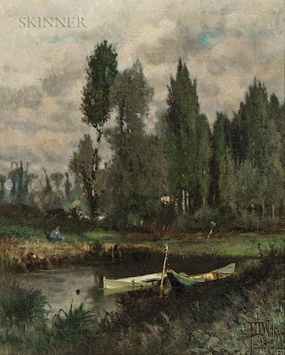 Frederick Dickinson Williams (American, 1829-1915)  Gone Fishing