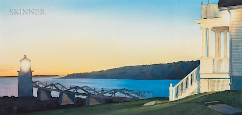 David Dewey (American, b. 1946)  Marshall's Point at Sunset