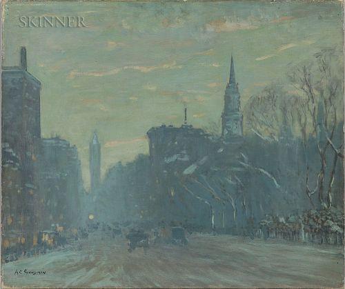 Arthur Clifton Goodwin (American, 1866-1929)  Late Afternoon, Boylston Street, Boston