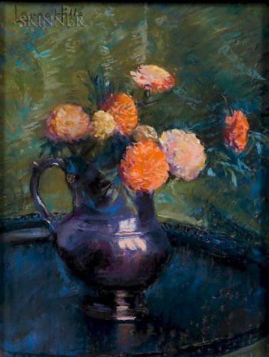 Laura Coombs Hills (American, 1859-1952)  Little Luster Pitcher